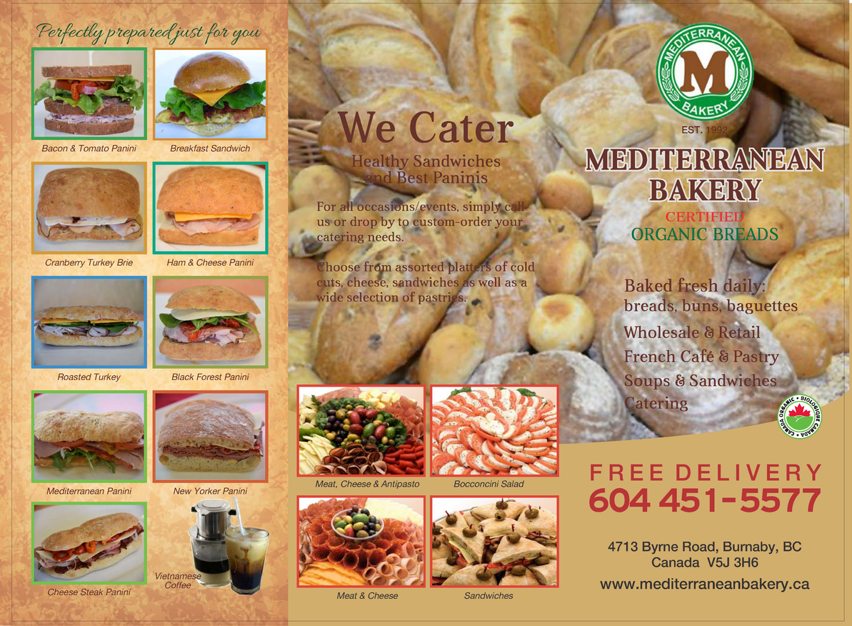 Mediterranean Bakery & Cafe menu